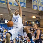 Delaware's Carl Baptiste transferred to the Blue Hens after two years at St. Joseph's