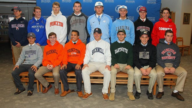 CBA athletes on signing day, Nov. 11, 2015