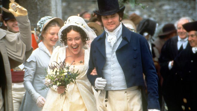 Jennifer Ehle and Colin Firth in the TV miniseries 'Pride and Prejudice.'
