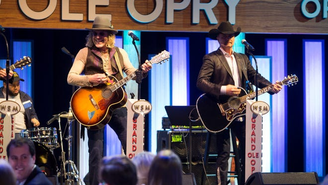 Big & Rich perform for Jim Ed Norman at Grand Ole Opry House.