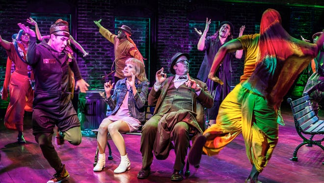 """Sutton Foster, Shuler Hensley and cast in """"Sweet Charity,"""""""