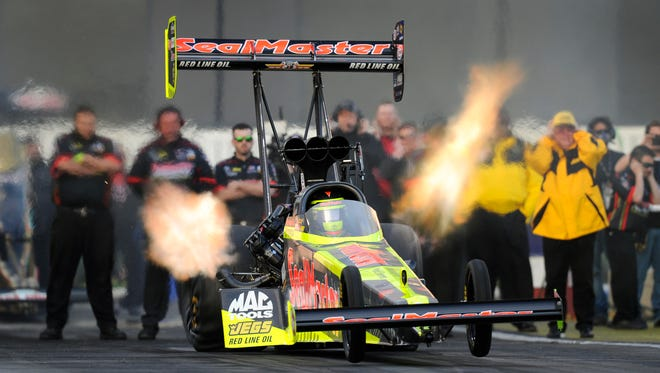 Columbus native Troy Coughlin Jr. hits the halfway point of his rookie season in the NHRA Top Fuel class this weekend at Norwalk.