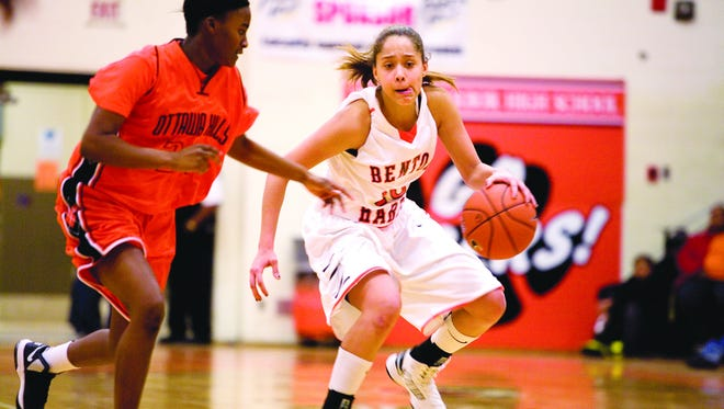 Benton Harbor guard Kalabrya Gondrezick was one of six to sign with Michigan State during the early signing period.