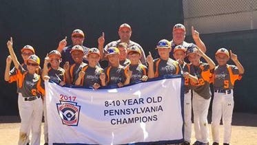 Northeastern Little League poses followed its state tournament championship two weeks ago.