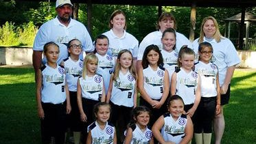 Churchville's 8U Softball ladies who are heading to state competition.