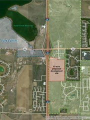 The location of a proposed auto dealership complex