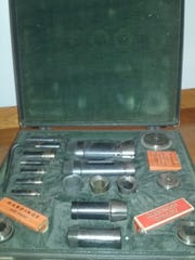 A salesman's box of colletts from 1950