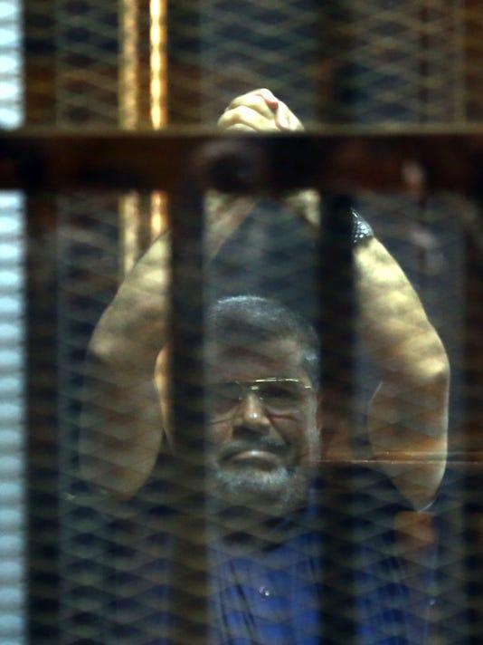 EPA FILE EGYPT TRIALS MORSI SENTENCE CLJ TRIALS EGY