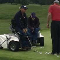 Disabled veterans learn to golf again
