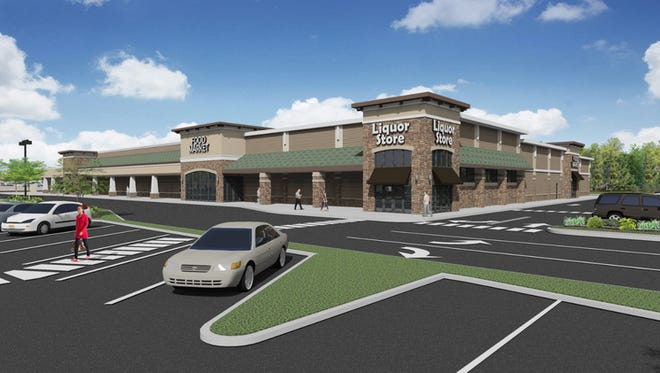 A rendering of what the finished product will look like after redevelopment at the Village of Taunton Forge shopping center in Medford.