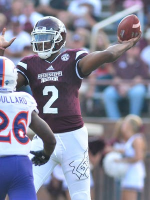 Mississippi State quarterback Elijah Staley is also a power forward for the basketball team.