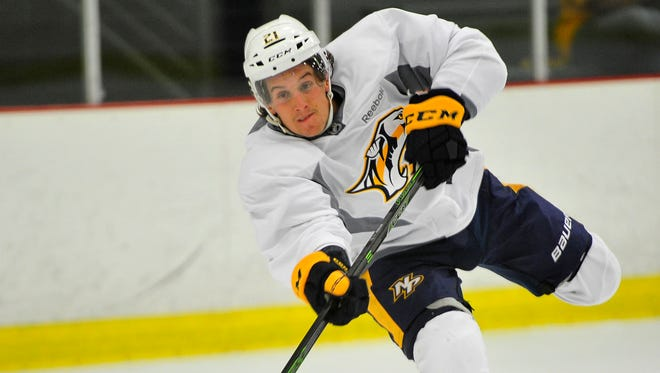 Predators forward Steve Moses was among three players cut from the team's roster Wednesday morning.