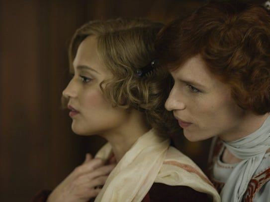 "Alicia Vikander and Eddie Redmayne in ""The Danish Girl."""