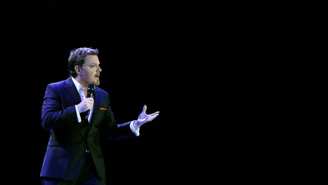 """Eddie Izzard's """"Force Majeure"""" tour has been on the road for more than three years."""