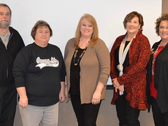 Employees receiving 20-year service awards were Tony Adams, Laura Jenkins, Shelby Ward, Savonda Turner and Renee Deibert.