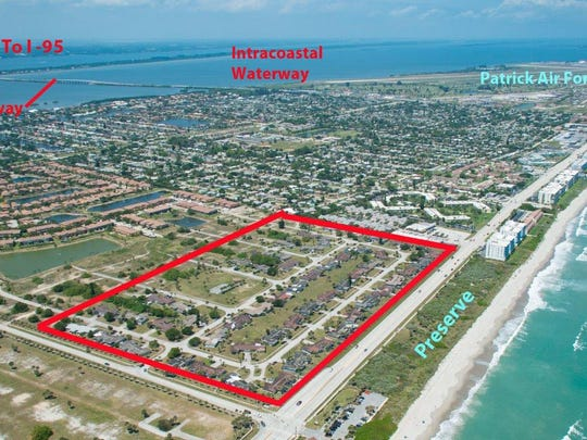 This rendering depicts the former Satellite Shores neighborhood. The homes were razed last year.