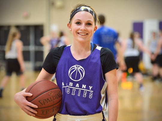 Albany's Sidney Schiffler is a standout senior guard on her team. She was photographed during practice Wednesday, Jan. 20 at Albany High School.