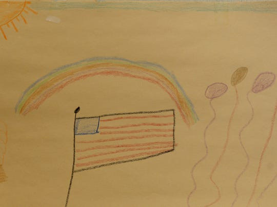 A drawing made for Leone Fitzgerald from a child at the Victim Assistance Program.
