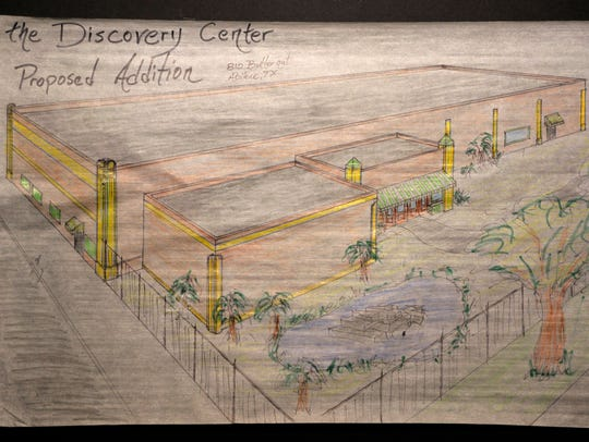 A rendering of the addition at the Discovery Center