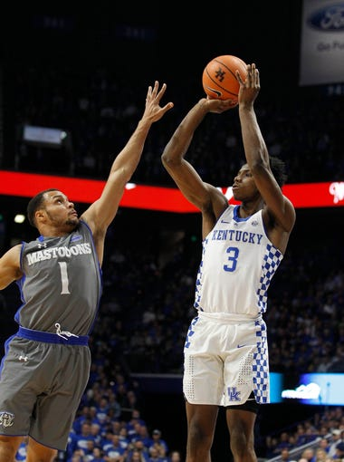 Kentucky Wildcats guard Hamidou Diallo (3) shoots the