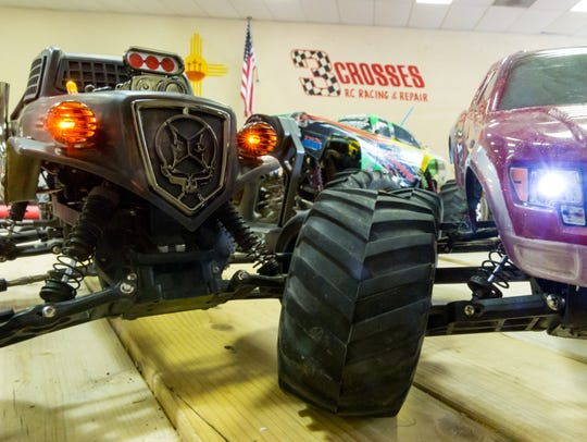 Custom RC vehicles are pictured on  Monday, July 2,