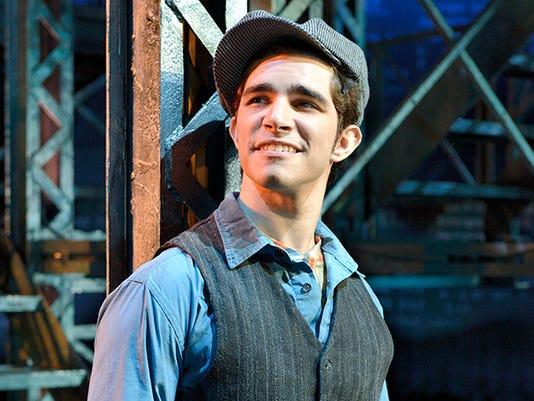 """Joey Barreiro as Jack Kelly in """"Newsies"""""""