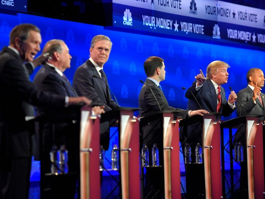 John Kasich, Mike Huckabee, Jeb Bush, Marco Rubio, Donald Trump, Ben Carson