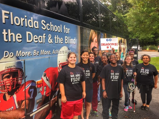 From Pensacola to Tallahassee to Lake City and around the other areas of the state, FSDB charter buses pick kids up and funnel them to and from a week of school.