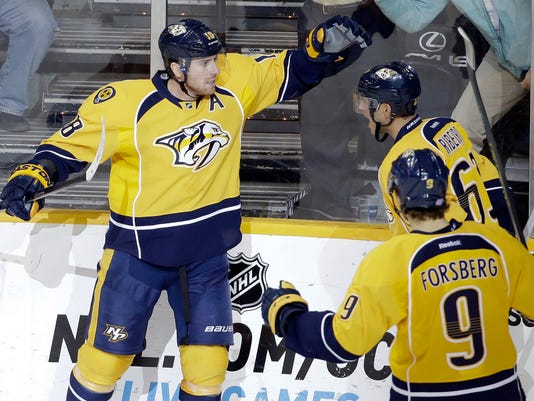 James Neal, Filip Forsberg, Mike Ribeiro