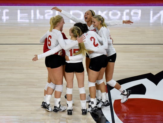 USD women's volleyball team play UND on Tuesday at