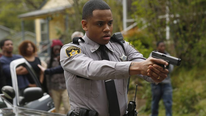 Deputy Josh Beck (Tristan 'Mack' Wilds) is accused of murdering a teenager in Fox's 'Shots Fired.'