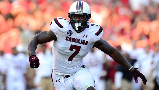 South Carolina DE Jadeveon Clowney has not been a dominant player in 2013.