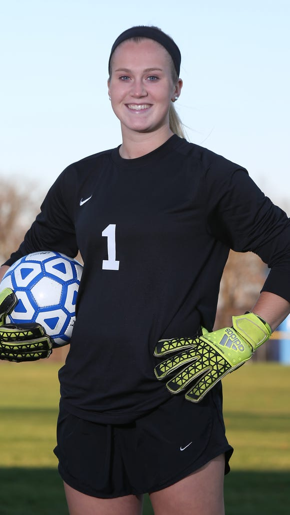 Pearl River goalie Lauren Gallagher is the Rockland Girls Soccer Player of the Year.