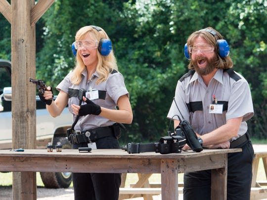 "David Kristen (Zach Galifianakis) has a thing for Kelly (Kristen Wiig), and that leads to trouble in ""Masterminds."""