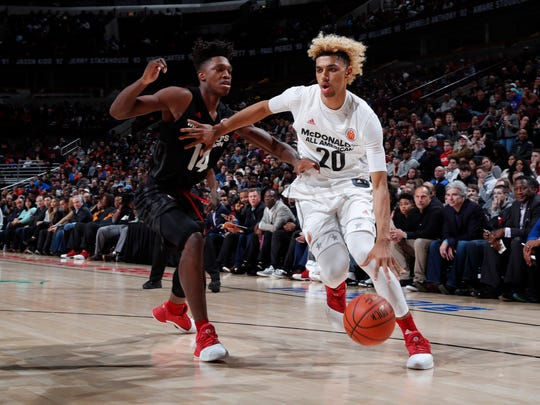 "McDonalds All-American West forward Brian ""Tugs"" Bowen"