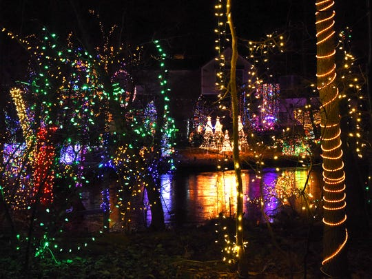 A view of Tim Gay's Christmas light display in LaGrangeville.
