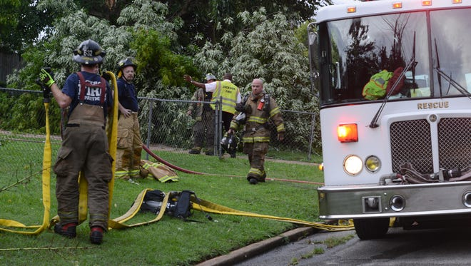 Storm damage caused a small fire at a home Friday.