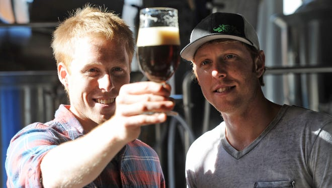 Asheville's Wicked Weed brewery will host a sour beer celebration July 16 at its production brewing site in Candler. Pictured are Wicked Weed co-owners Walt and Luke Dickinson.