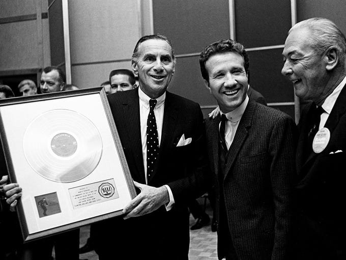 Goddard Lieberson, left, president of Columbia Records,