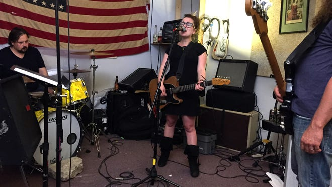 Lydia Loveless performs in her Columbus, Ohio rehearsal space.