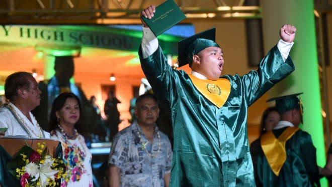 John F. Kennedy High School celebrated the graduation of its Class of 2017 during a commencement exercise on Friday, June 9, 2017. Friends, families and other supporters gathered as 342 Islanders received their diplomas during the ceremony at the upper Tumon campus, which ended with a colorful fireworks display.