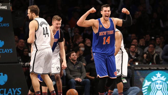 New York Knicks center Willy Hernangomez (14) is one of the success stories for Phil Jackson and the team.