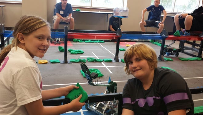 Fourteen students from Oshkosh and the surrounding area participated in the first robotics camp to ever take place at the Fox Valley Technical College in Oshkosh.