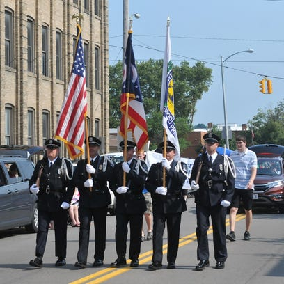 The Fourth of July parade stretched for blocks in downtown
