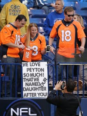 Manning has namesakes among Broncos' fans, too.