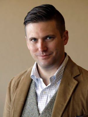 Richard Spencer poses between interviews Tuesday, Dec. 6, 2016, in College Station, Texas.