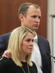 Former athlete Chelsea Williams was accompanied by her husband while making her victim impact statement Jan. 17, 2018.