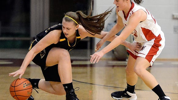 Red Lion's Courtney Dimoff, left, is coming off a big