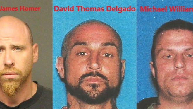 Two men, David Delgado and Michael Ebert, were arrested after a pursuit on Tuesday, June 23, 2020, in which gunshots were fired at officers, authorities said. Delgado was wanted in Arizona in connection with a separate shooting with law enforcement. Casper Homer was taken into custody earlier for his suspected role in the same shooting.