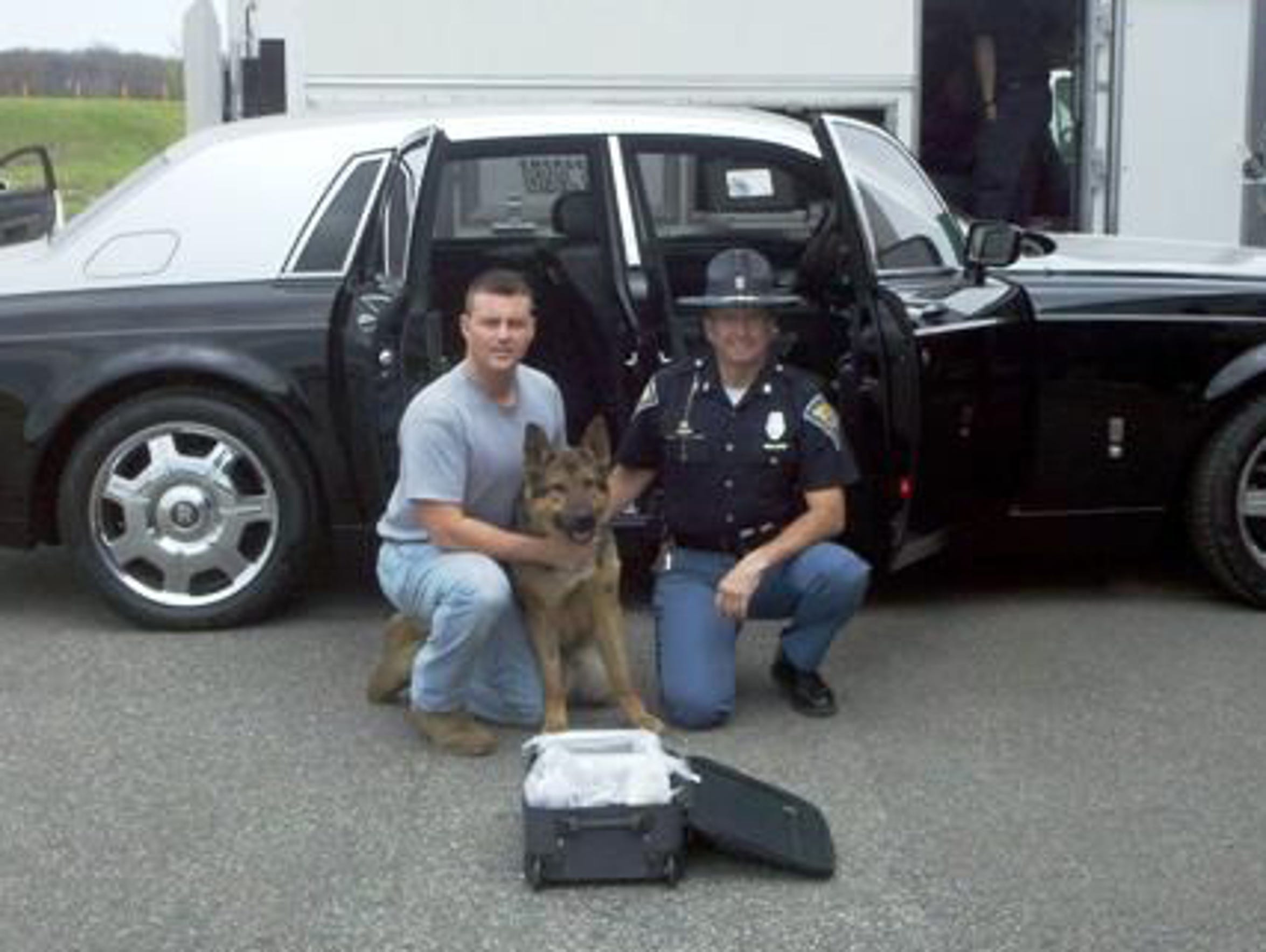 Indiana State Police K9 'Hondo' sniffed out 11 kilos